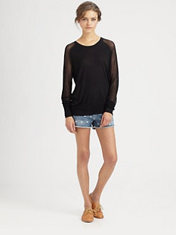 Equipment - Ashton Semi-Sheer Sweater