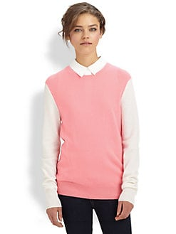 Equipment - Sloane Two-Tone Cashmere Sweater