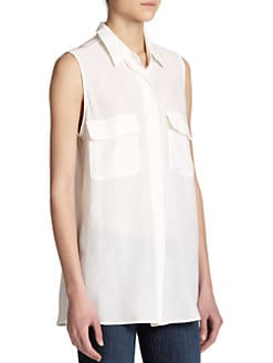Equipment - Sleeveless Silk Shirt