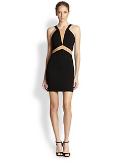 Torn by Ronny Kobo - Bianca Scuba & Mesh Geometric-Inset Dress