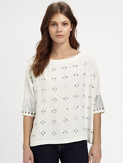 Clover Canyon - Rhinestone-Embellished Top