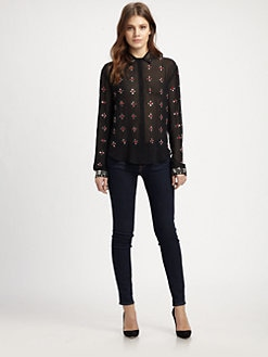 Clover Canyon - Rhinestone-Embellished Shirt