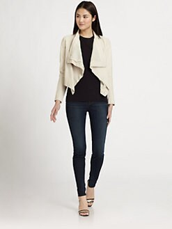 PJK Patterson J. Kincaid - Luman Draped Leather Jacket
