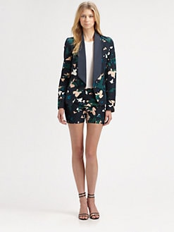 Augden - Silk-Trim Blazer