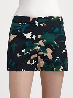 Augden - Tailored Silk-Trim Shorts