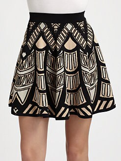 Torn - Anabella Intarsia Knit Skirt
