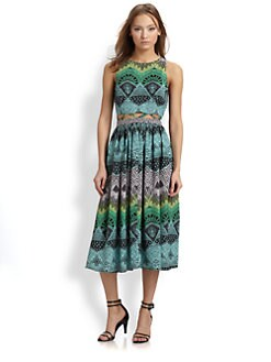 Mara Hoffman - Lattice-Cutout Midi Dress