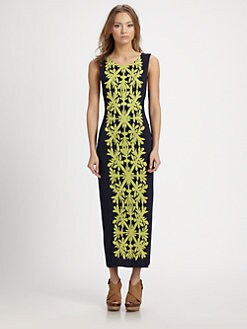 Mara Hoffman - Applique Open-Back Midi Dress
