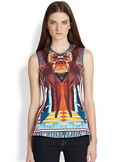 Clover Canyon - Furniture Weave Printed Neoprene Top