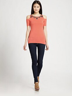 Bailey 44 - Toledo Embellished Jersey Top
