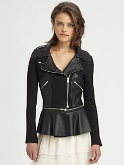 The Man Repeller x PJK - Mary Convertible Moto Peplum Jacket