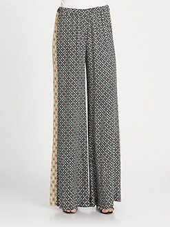 Ella Moss - Sun-Tile Print Pants