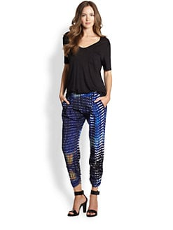 Parker - Ruched Silk Pants