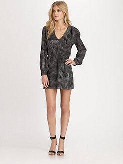 Parker - Lila Silk Wrap Dress