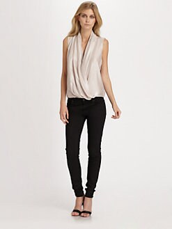 Parker - Grae Metallic Silk Top