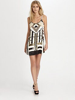 Parker - Hayden Embellished Silk Mini Dress