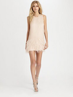 Parker - Allegra Beaded Silk Feather Dress