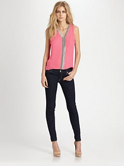 Parker - Nahla Beaded Silk Top