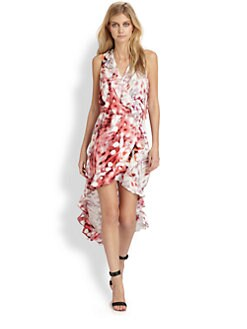 Parker - Cassia Silk Hi-Lo Dress