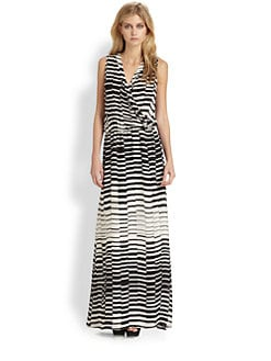 Parker - Layne Silk Faux-Wrap Maxi Dress