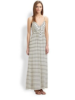 Red Haute - Striped Jersey Maxi Dress