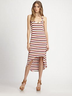 Red Haute - Striped Hi-Lo Tank Dress