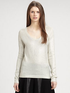 AIKO - Elenora Metallic Sweater