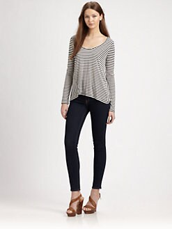 AIKO - Andie Striped Jersey Tee