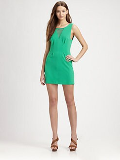 AIKO - Mullen Mesh-Trim Knit Dress