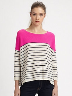 360 Sweater - Ellie Cashmere Striped Sweater