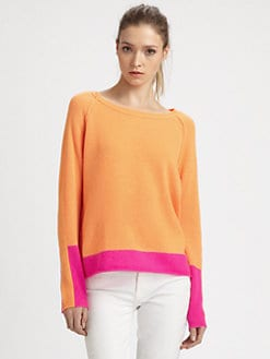 360 Sweater - Livie Cashmere Combo Sweater