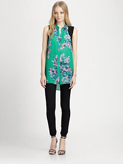 Jeunesse - Edith Floral Silk Top