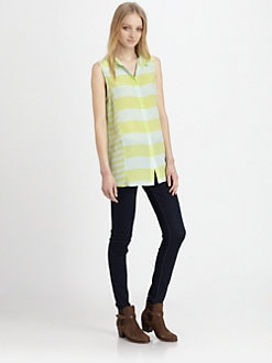 Jeunesse - Edith Striped Silk Shirt