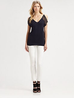 Bailey 44 - Sting Ray Chiffon-Trim Top