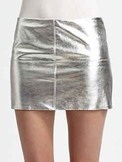 Bailey 44 - Turtle Metallic Leather Mini Skirt