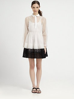 tba (to be adored) - Silk Organza & Tulle Shirtdress