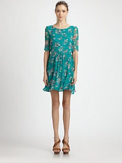 Ella Moss - Silk Chiffon Floral Dress