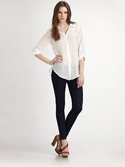 Ella Moss - Heidi Eyelet-Trim Shirt