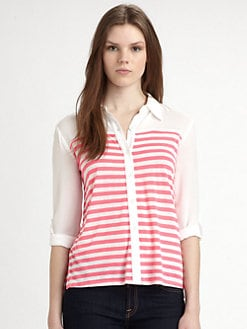 Ella Moss - Lila Striped Jersey Shirt