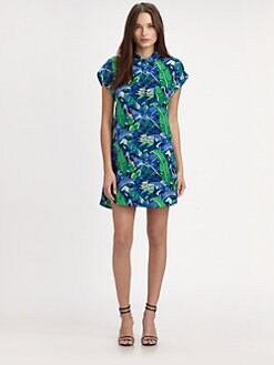 Whit - Silk Canopy-Print Shirtdress