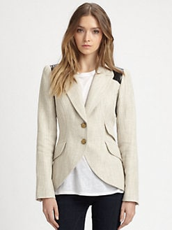 Smythe - Equestrian Leather-Trim Blazer
