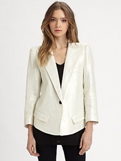 Smythe - Metallic Sharp-Shoulder Blazer