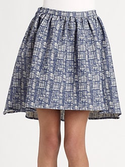 The Man Repeller x PJK - Wendy Fit-and-Flare Skirt