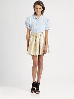 The Man Repeller x PJK - Fawn Puff-Sleeved Blouse