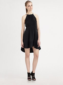 The Man Repeller x PJK - Silk Pleated Halter Dress