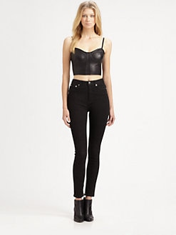PJK Patterson J. Kincaid - Braxton Leather Bustier Top
