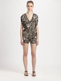 Wren - Silk Cheetah-Print Jumpsuit