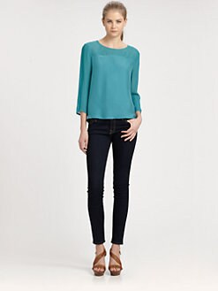 ADDISON - Sloan Draped Open-Back Top