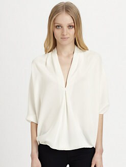 Ramy Brook - Robi Silk Blouson Top