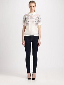 Something Else - Floral Mirage Silk Top